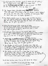 BOB DYLAN REPRO 1965 - GATES OF EDEN - HANDWRITTEN LYRICS . NOT CD DVD
