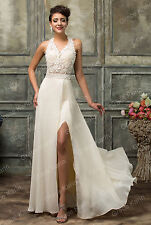 Sexy Lace Evening Wedding Dress Formal Bridesmaid Party Prom Cocktail Ball Gowns