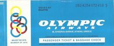 Airline Ticket - Olympic Airways - 2 Flt - 1987 (T98)