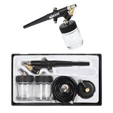 Siphon Feed Airbrush Single Action Air Brush Kit 0.8mm Spray Gun Paint Tool L1Z6