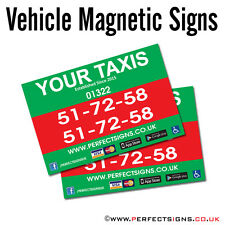 Magnetic Vehicle Signs Digitally Printed Car Magnet Full Colour 900mmX600mm X 2