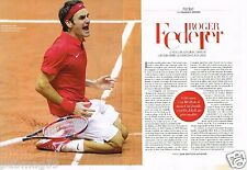 Coupure de Presse Clipping 2014 (2 pages) Roger Federer