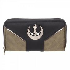 STAR WARS ROGUE ONE REBEL ALLIANCE LOGO ZIP UP AROUND WALLET  CLUTCH HAND BAG