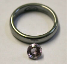 NATURAL LOOSE AMETHYST GEMSTONE 6MM ROUND CUT GEM 0.8CT FACETED AM65