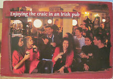 Irish Postcard ENJOYING THE CRAIC IN AN IRISH PUB Tavern Drinking John Hinde 4x6