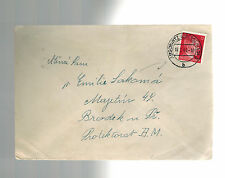 1943 Germany Auschwitz Concentration Camp KZ Cover to BM F Labouf