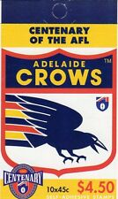 1996 AUSTRALIAN STAMP BOOKLET AFL CENTENARY ADELAIDE CROWS 10 x 45c STAMPS MUH