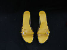 Salvatore Ferragamo Carlyn Transparent Sandals Shoes Size 9B Yellow BNIB