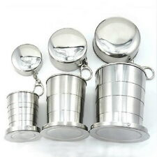 Lot 275ml Stainless Steel Travel Portable Folding Collapsible Cup Portable Hot !