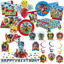 Paw Patrol Party Tableware Decorations Childrens Birthday Partyware Incl 14 item