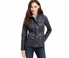 Tommy Hilfiger Womens Cinch Waist Poacher Utility Jacket Coat Large $130 NWT