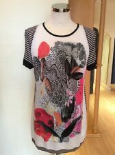 Aldo Martins Top Size 14 BNWT Black Beige Pink Coral RRP £118 Now £53