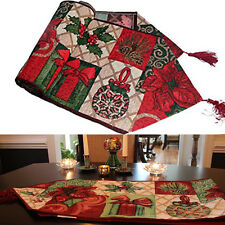 Tapestry Tidings Table Runners Placemat Christmas Decorative Wedding Tablecloth