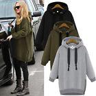 Womens Casual Jacket Ladies Long Sleeve Hoodie Coat Top Hooded Jumper Sweatshirt