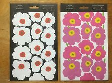 2 Marimekko Unikko stickers packages from FInland. white and pink Unikko