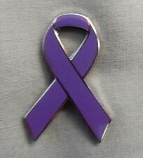 ***NEW*** Dementia Awareness ribbon enamel purple badge. Charity.