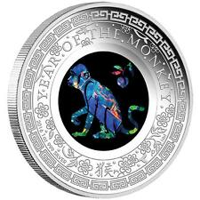 2016 $1 Australian Opal - Lunar Monkey 1oz Silver Proof Coin NUMBERED: 553