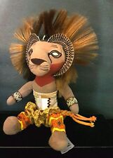 Walt Disney LION KING Broadway Musical soft Toy SIMBA African Tribal Attire