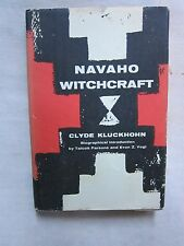 Old Book Navaho Witchcraft by Clyde Klukhohn 1962 DJ VGC