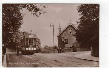 BILLINGE END, BLACKBURN: Lancashire postcard with tram (C6461).