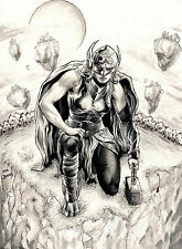 THOR GIRL 2 BY MR JORDAN-ART PINUP Drawing Original COMIC