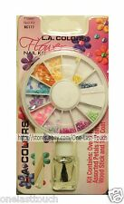 L.A. COLORS Over 240pc FLOWER Nail Kit Decoration PETALS+PEARLS+TOP COAT+STICK
