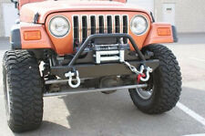 Bulldog Winch Jeep TJ/YJ Front Stubby Bumper with Light Bar and Shackle Mounts