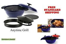 NEW Minden Anytime Grill - BLUE For use w/gas & electric stovetops AS SEEN ON TV