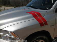 2010 11 2012 2013 14 15 Dodge Ram Fender and Hood Hash Mark Stripe Stripes PAIR