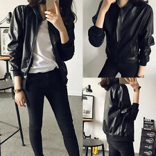Hot Sale! Cool! 2015 Women Synthetic Leather Long Sleeve Zip Motorcycle Jacket