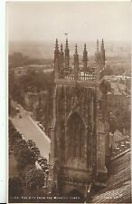 Yorkshire Postcard - York - The City from The Minster Tower - Real Photo  V2123