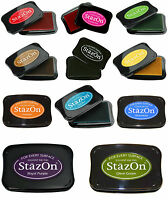 Stazon Ink Pad Solvent Ink Pads By Tsukineko Choose Ink Pad Colour & Pad Size