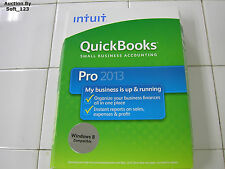 INTUIT QUICKBOOKS PRO 2013 FOR WINDOWS FULL RETAIL USA VERSION =NEW SEALED BOX=