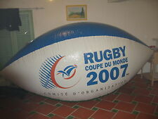Ballon rugby 3 metres helium ou air coupe du monde 2007 ( ad world cup  balloon