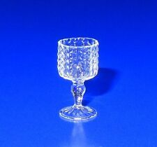 Ferenc Albert Blown Glass English Hobnail Water Goblet Dollhouse Miniature IGMA