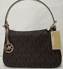 MICHAEL KORS Jet Set Small Top Zip Shoulder Bag, 35H3GTTL1B Brown, Gift, $168