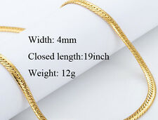 Beautiful Yellow Gold Filled Men's Chain Necklace