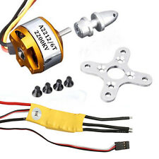 Brushless Motor+ESC 30A Speed Controller+Mount for RC Airplane Helicopter 2200KV