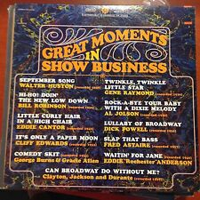 Great Moments In Show business LP-epic Fred Astaire Al Jolson