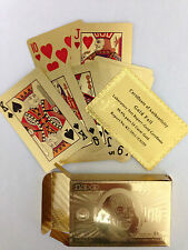 New 24 Karat 99.9% gold plated Playing Cards,Full Deck with Jokers Free Shipping