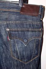 Rare LEVI'S RED Collection Slim Boot Dark Wash Flap Pocket Jeans Sz 36 x 30