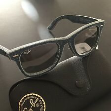 Ray-Ban RB2140 1163 50-22 Blue Denim Wayfarer Men's Sunglasses NWT Italy $215