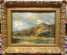 19th French Impressionist Mountain River Landscape Oil Painting Claude MONET