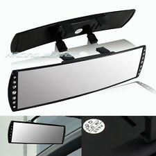 Universal JDM 300mm Wide Convex Curve Panoramic Crystal Diamond Rear View Mirror