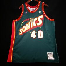 100% Authentic Shawn Kemp Mitchell & Ness Sonics Jersey Size 52 2XL