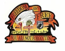 Freedom isn't Free You are Not Forgotten Eagle Large Patch