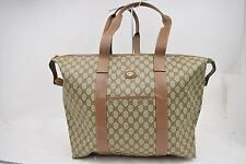 Authentic Gucci Tote Bag  Browns PVC 144598