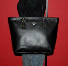 COACH LARGE Black Leather Business Tote Carryall Case Satchel Bag