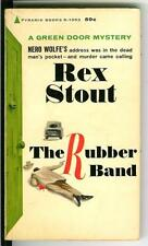 THE RUBBER BAND by Rex Stout, rare US Pyramid Green Door crime pulp vintage pb