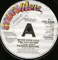 "PATRICK BOOTHE never knew love like this before STR A2596 demo 1982 uk 7"" WS EX/"